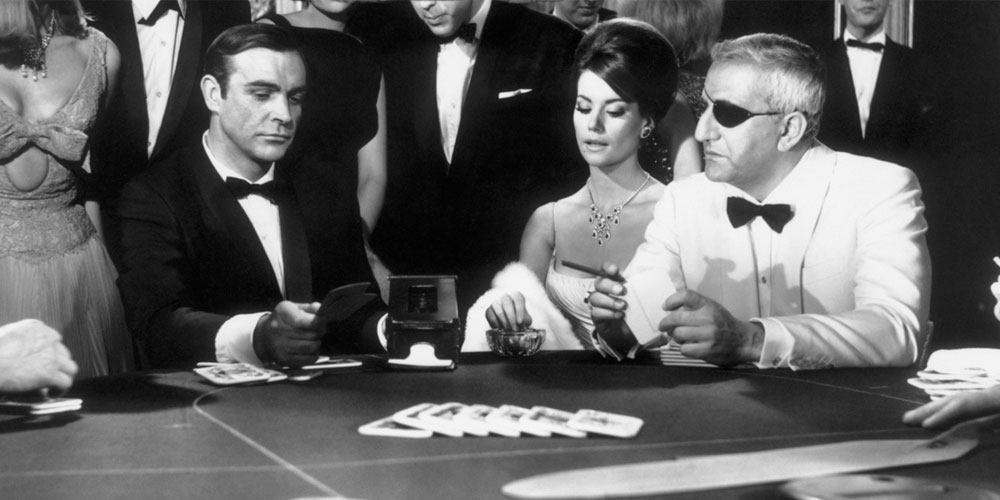 James Bond Playing Baccarat