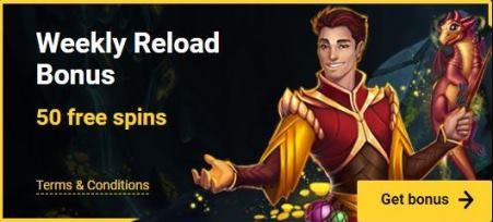 Weekly Reload 50 Spins Bonus
