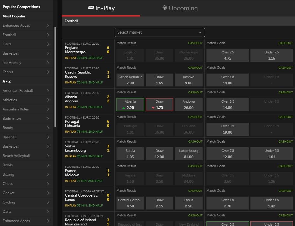 Betsafe review Sports Betting Screenshot