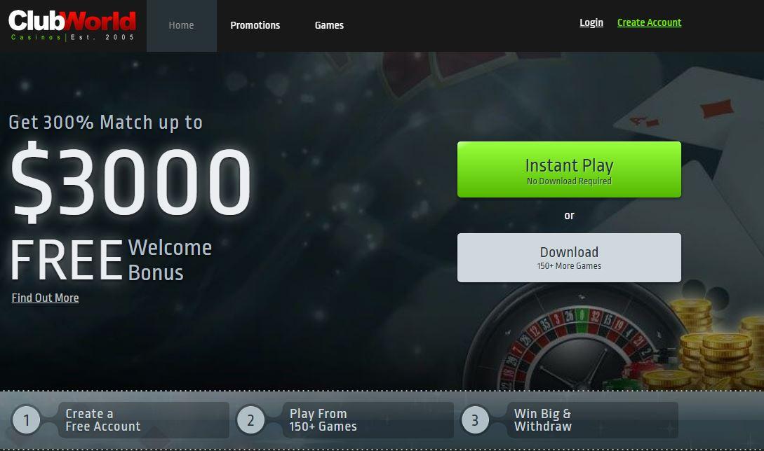 Club World Casinos Screenshot