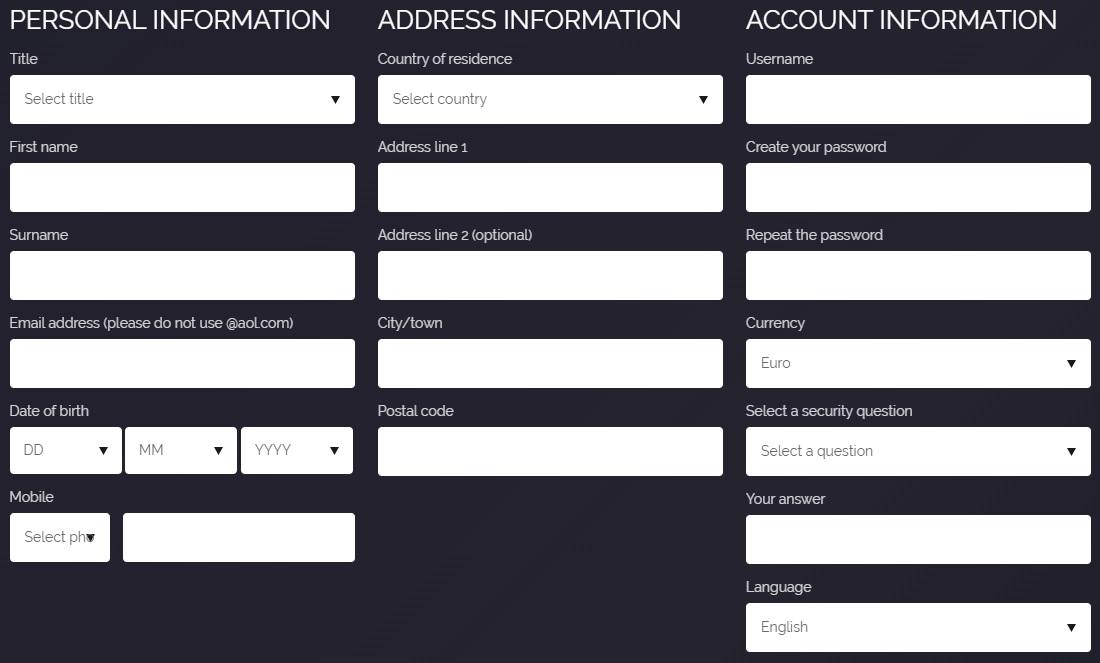 Jetbull -Register New Account