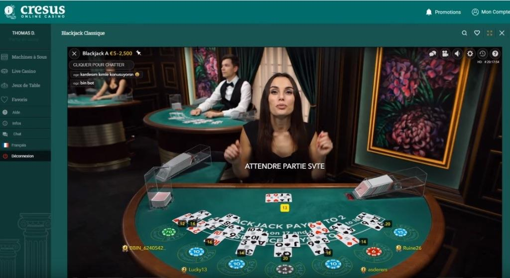 Cresus Casino Avis: Blackjack