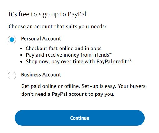 PayPal Casinos Sign-up